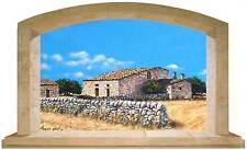 Sticker Trompe L'oeil Adesivo Finestra su Antico Caseggiato Siciliano