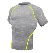 Take Five Mens Skin Tight Compression Base Layer Running Shirt Gray NT058 CA