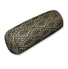 HC703g Dark Olive Beige Checker Jacquard Cotton Bolster Cover Yoga Case Size