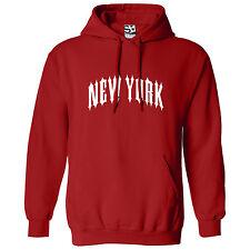 New York Outlaw HOODIE - Hooded Sweatshirt NYC NY Biker Heavy Metal - All Colors