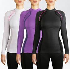Lores de lujo para mujeres de manga larga de Control de Energía Top Deportes Activos