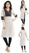 Women Indian Short Kurti Tunic Casual Cotton Printed Kurta Shirt Dress NK35
