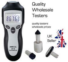 AMECaL AT-8 High Accuracy Contact + Non-Contact Tachometer