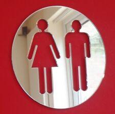 MASCHIO & FEMMINA ROUND WC Porta Firmare SPECCHIO IN ACRILICO (diverse dimensioni disponibili)