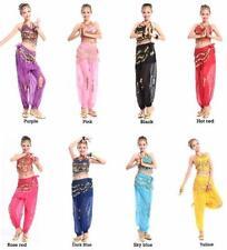 8 colors Belly dance dress Danse Du Ventre Costume set trousers+Beads Bells bra