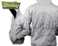 "VW Limebug Official Light Grey ""LMBG"" Hoodie Zip up Hoodie Jacket T1 Dub"