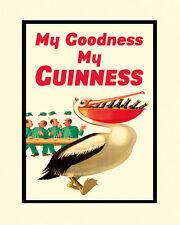 "Beer My Guinness Pelican Bird Irish Ireland Dublin 16""X20"" Vint Poster FREE S/H"
