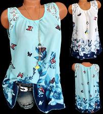 Shirt Bluse Hängerchen Tunika Longshirt Blumen Spitze Italy oversized 42 44 46