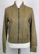 $6650 Bottega Veneta Women's Leather Jacket w/Braid Pattern Beige 323440 2713