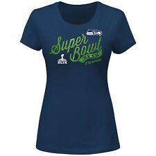 "Seattle Seahawks Women's Majestic NFL Super Bowl XLIX ""At the Show"" S/S T-Shirt"