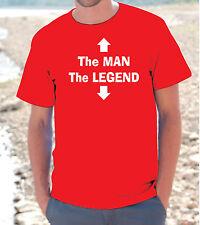 T-SHIRT MAGLIETTA S - M - L - XL The Man The Legend HOT FUNNY DIVERTENTE