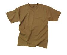ARMY SOLID  BROWN PLAIN MENS ROTHCO T-SHIRT TEE SHIRT SHIRT SIZE S M L XL 2X 3X