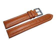 Uhrenband - Leder - gepolstert - genarbt - hellbraun - 18,20,22,24 mm