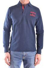 Franklin & Marshall Men's Mcbi127033o Blue Cotton Polo Shirt