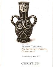CHRISTIE'S Ceramics Pablo Picasso MADOURA Private Coll Auction Catalog 2011