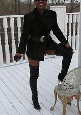 Gucci Stylish High fashion Black green calf Pony Fur Coat Bolero stroller S-4