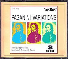 PAGANINI VARIATIONS 24 Caprices Ruggiero RICCI Kantorow VOX 3CD Liszt Brahms