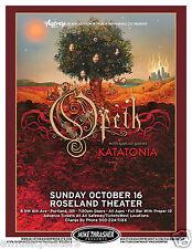 Opeth / Katatonia 2011 Portland Concert Tour Poster - Progressive Metal Music