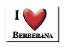 SOUVENIR ESPAÑA CASTILLA Y LEÓN MAGNET CORAZON SPAIN I LOVE BERBERANA (BURGOS)