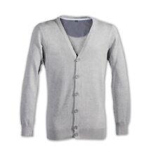 Herren Cardigan Strickjacke mit V-Ausschnitt Knopfleiste 100% Baumwolle Öko Tex