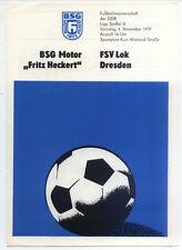 DDR-Liga 79/80 BSG Motor Fritz Heckert Karl-Marx-Stadt-fsv Lok Dresden