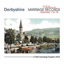 Derbyshire Parish Registers - Complete Phillimore Marriages Records