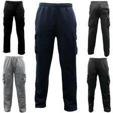 NEW Men's Cargo Fleece Casual Jogging Sports Track Suit Pants Trackies