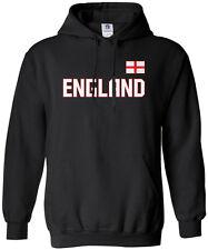 Threadrock Men's England National Team Hoodie Sweatshirt london flag