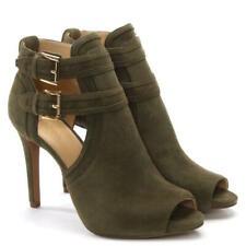 Michael Kors Womens Blaze Leather Peep Toe Casual Ankle Strap Sandals