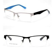 Half Metal Rectangular Frame Unisex RX Optical Frame Glasses Prescription