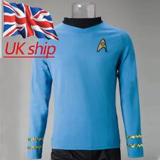 Star Trek Spock Blue Shirt Uniform TOS The Original Series Cosplay Costume New
