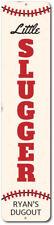 Little Slugger Vertical Sign, Personalized Child Name Baseball ENSA1002314