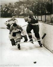 Detroit Red Wings Gordie Howe Getting Tripped By Montreal Canadians Hockey Great