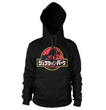 Licencia Oficial Jurassic Park - Japonés Logotipo Esfumado Sudadera con Capucha