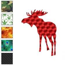 Bull Moose Antler Decal Sticker Choose Pattern + Size #467