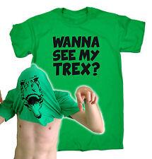 Wanna See My T-REX T-SHIRT Tee Dino Dinosaur Jurassic Funny birthday gift