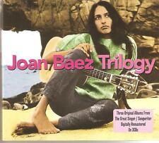 JOAN BAEZ TRILOGY - 3 CD BOX SET - SLIVER DAGGER, WAGONERS LAD & MANY MORE