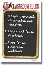 NEW POSTER  - CLASSROOM RULES #3 - School Teachers Students