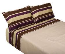 Copripiumone a Righe Viola & due federe Set Cotone Mix camera da letto Biancheria da letto