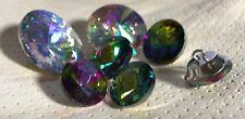 10er Pack 20mm, 25mm, 30mm Strasssteine Polsterknöpfe Glas Regenbogen Crystal AB