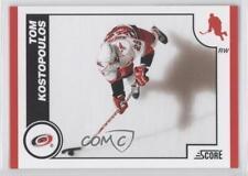 2010-11 Score #120 Tom Kostopoulos Carolina Hurricanes Hockey Card