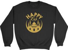 Happy Eid Gold Mens Womens Ladies Unisex Sweatshirt