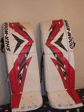 New Sherwood T90 Pro Senior Ice hockey goalie leg pads