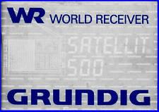 GRUNDIG SATELLIT 500 SHORT WAVE  USER MANUAL FULL