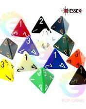 Dado Chessex a Scelta D4 D6 D8 D10 D12 D16 D20 Opachi colore Casuale dadi D&D