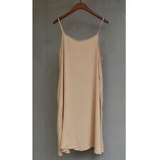 Full Slip Strappy Spaghetti Dress Underskirt Petticoat Chemise Soft Nightie Snug