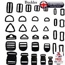 Buckles Adjustable Assorted Tape Webbing Strap Connector Backpack Plastic Slider