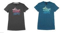 adidas Damen T-Shirt Slogan Baumwollmischgewebe besserer Feuchtigkeitstransport