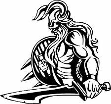 Viking Warrior Norsemen Sword Battle Car Truck Window Vinyl Decal Sticker