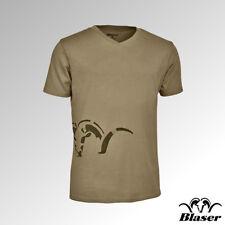 Blaser T-Shirt V Neck Logo Sand (118011-006/613)